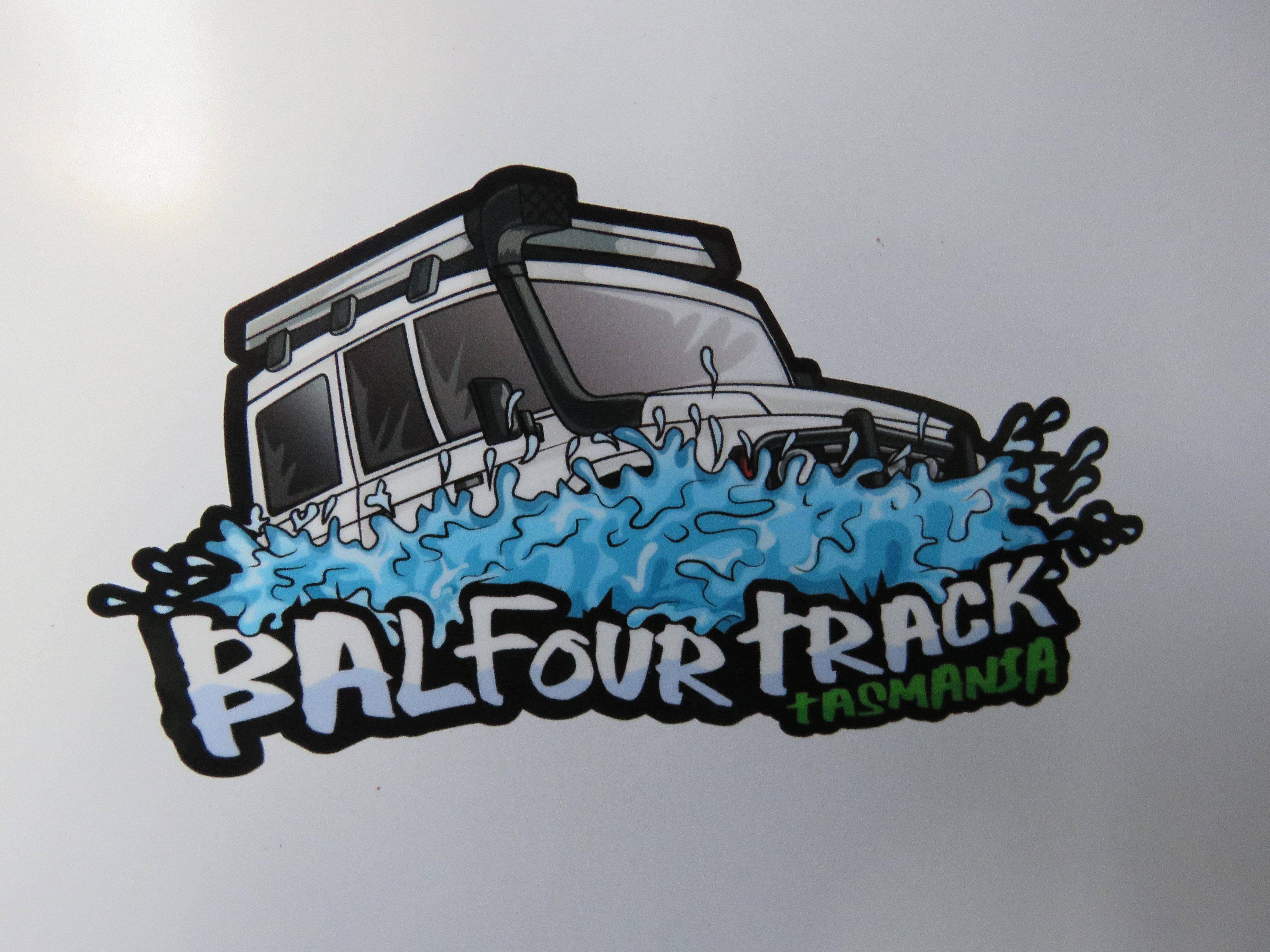 Balfour Track Bumper Sticker Tasoffroadadventures