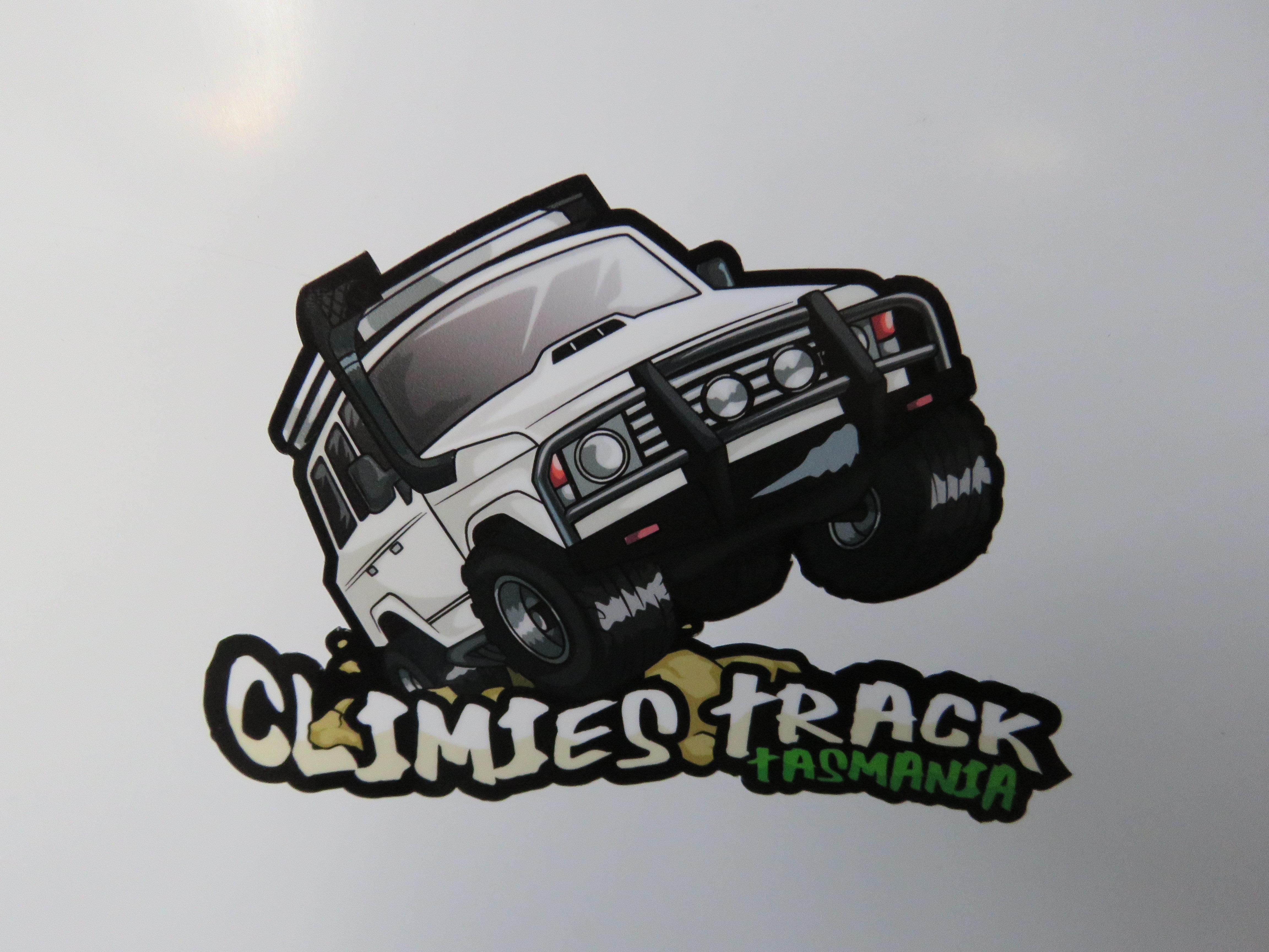 Climies Track Bumper Sticker Tasoffroadadventures