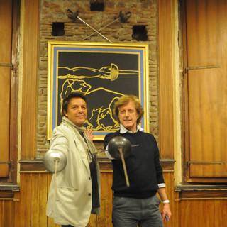 Renzo Musumeci Greco con Alan Sorrenti