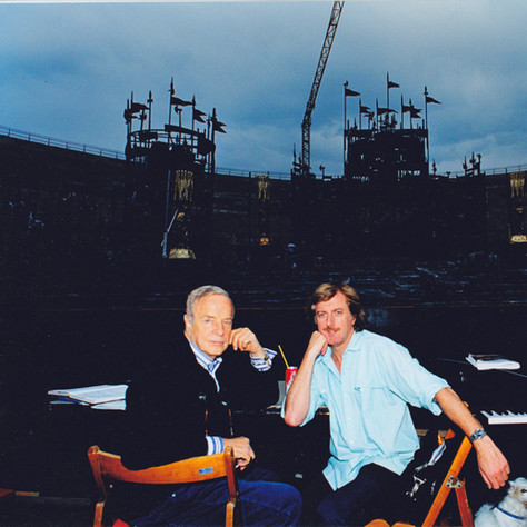 Renzo Musumeci Greco con Franco Zeffirelli
