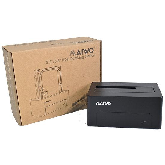"Maiwo 2.5 / 3.5"" USB 3.0 Hard Drive Dock & Power Cable"