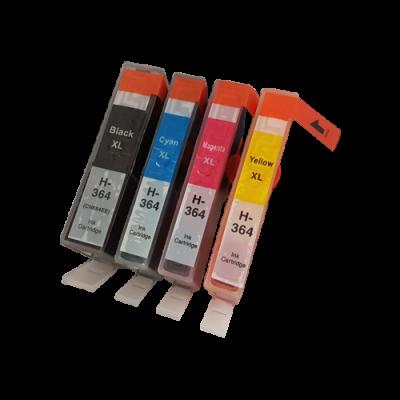 Compatible HP 364XL Ink Cartridge High Capacity Black Cyan Magenta Yellow
