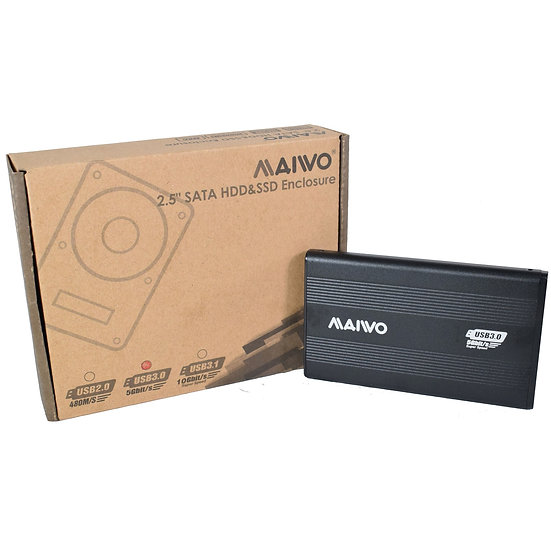 "Maiwo USB 3.0 2.5"" External Hard Drive Enclosure"