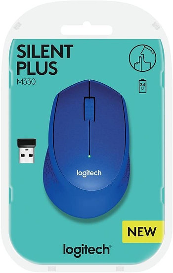 Logitech M330 Silent Plus Wireless Optical Mouse Blue
