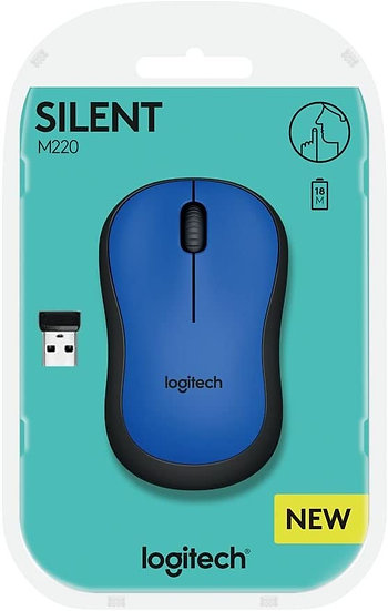 Logitech M220 Silent Wireless Optical Mouse Blue