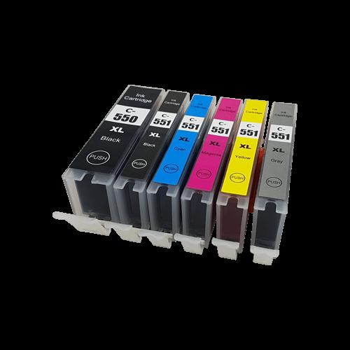 Compatible Canon PGI-550XL CLI-551XL Ink Cartridge Multipack