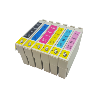 Compatible Epson 807 Ink Cartridge High Capacity Black Cyan Magenta Yellow LC LM