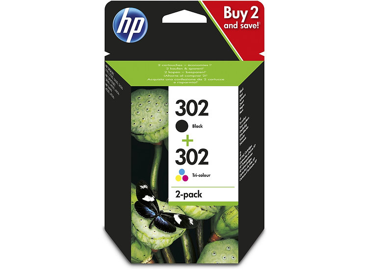HP 302 Black & Colour Original Ink Cartridges