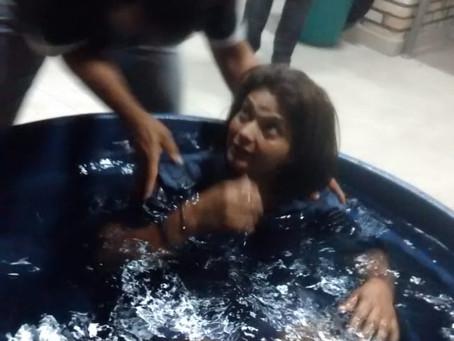 Batismo da Belmira, a alegria da perseverança