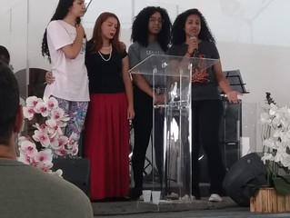Larissa integra a família de Deus