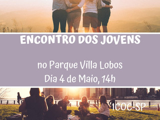 Encontro de jovens no Villa Lobos, dia 4 de maio