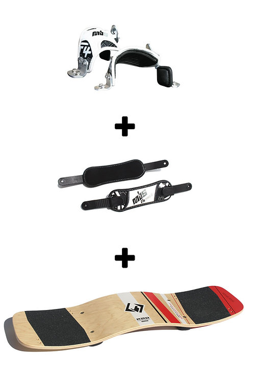 "Lineboard ""Launch"" (Complete) + MBS F4 Pro Bindings + MBS FX Pro II Heel Straps"