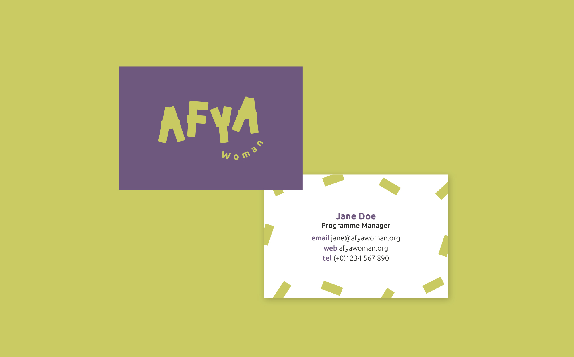 Afya Woman Business Card