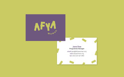 Afya Woman Business Card