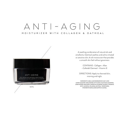 ANTI-AGING: COLLAGEN AND OATMEAL MOISTURIZER