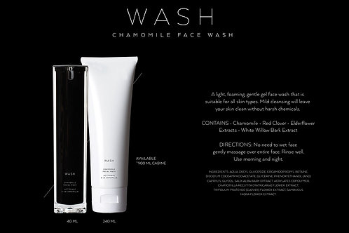 WASH: CHAMOMILE FOAMING FACE WASH           (black bottle available only)