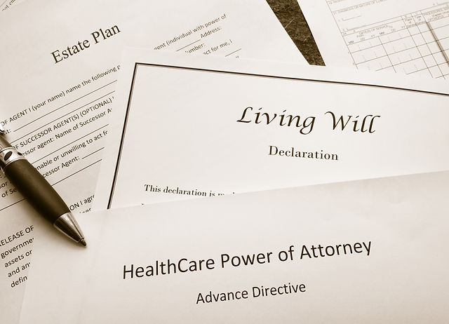 Estate Plan, Living Will, and Healthcare