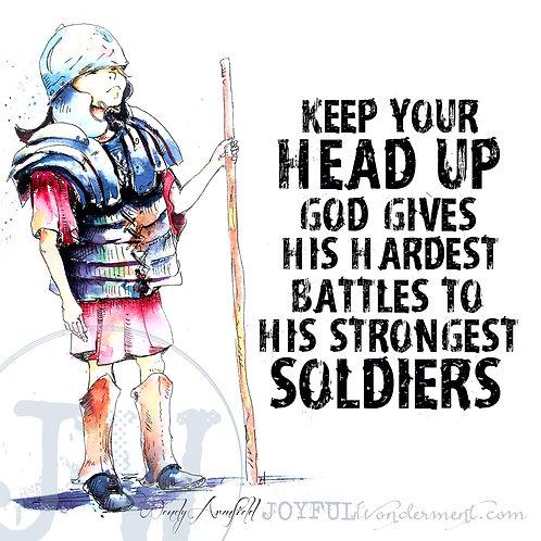 Heads Up Soldier - Art Print