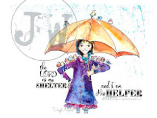 My Shelter & His Helper - Art Print