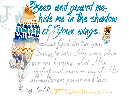 Let God Shelter U - Art Print