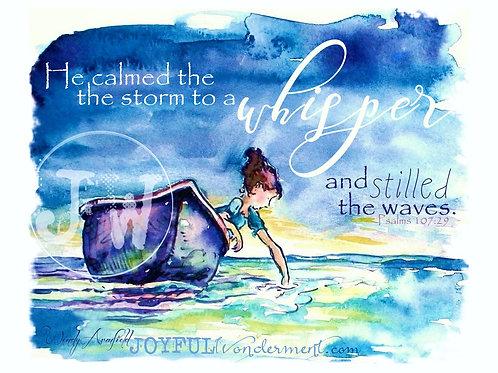 He Calmed The Waves -Art Print