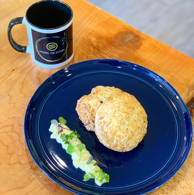 Weekly scone feature with honey butter
