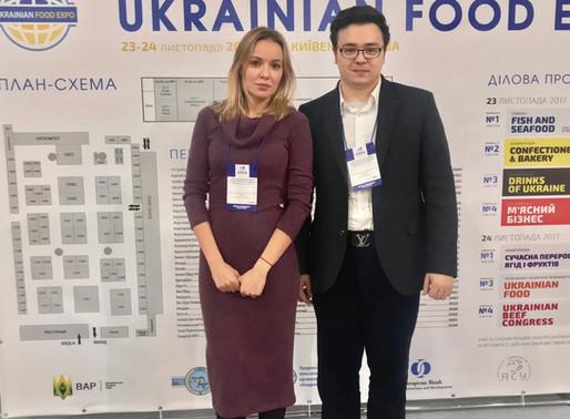 Founder Addresses the Ukrainian Food Expo in Kiev, Ukraine