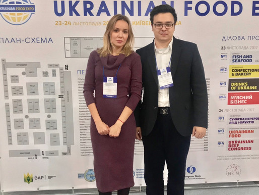 Founder Addresses the Ukrainian Food Expo in Kiev, Ukraine