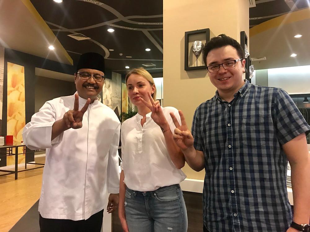 Vice Governor of East Java, Mr Gus Ipul with Miss Tetyana Kolyesnikova and Mr Robert Akira Bell - Eurasia Intercontinental Trading
