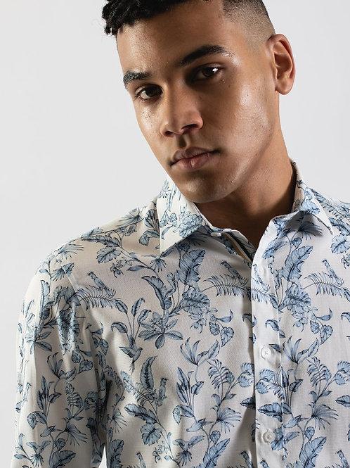 JAMES HARPER Paradise Palm Print Shirt