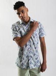 JAMES HARPER Tropical Palm Print Shirt (Short Sleeve)