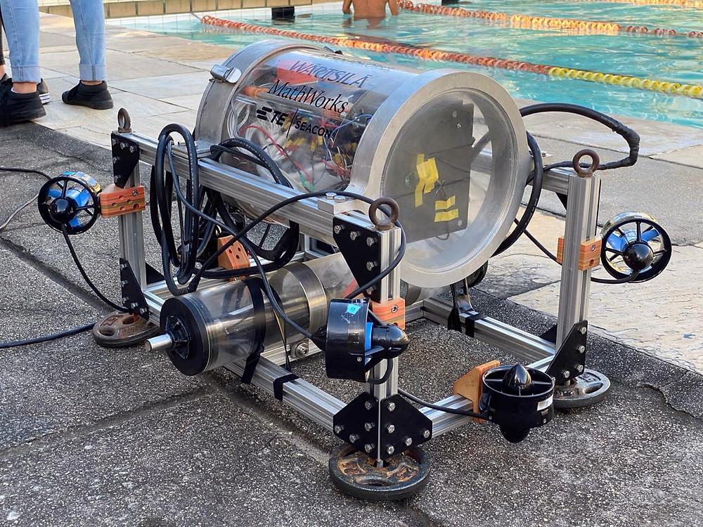 Nosso AUV. Robo submarino autônomo da UFRJ Nautilys