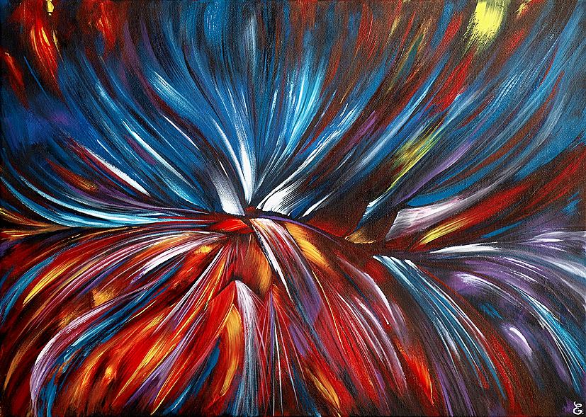L'envol du Phoenix - 50 x 70 cm