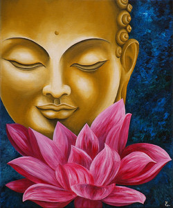 """ Bouddha au lotus """