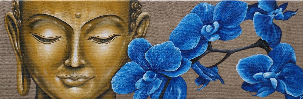 """"""" Bouddha aux orchidées """""""