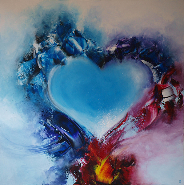 Love in the sky with diamonds - 80 x 80 cm