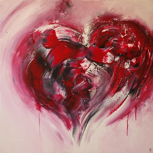My heart - 80 x 80 cm