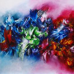 Colors of love - 80 x 80 cm