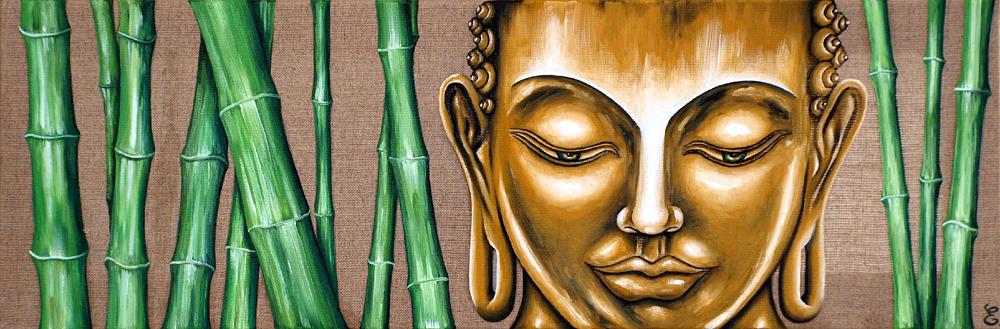 """"""" Bouddha aux bambous """""""