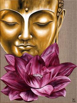 """"""" Bouddha au lotus rose """""""