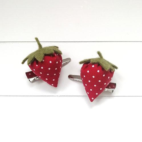 Haarspange Erdbeere Set
