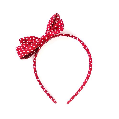 Haarreifen für Mädchen mit Schleife Herzchen Frau Rosmarin