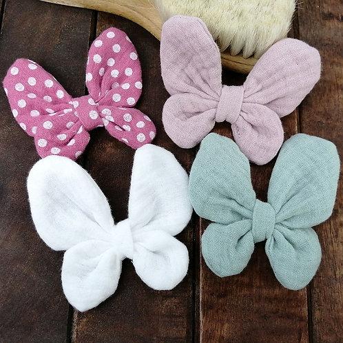 Haarschleife Schmetterling | Musselin
