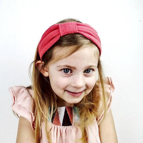 Kinderhaarreifen Musselin Tragebild