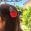 Kinderhaarspange Apfel rot