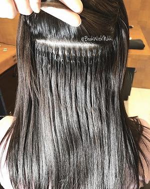 Individual micro bead hair extensions