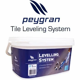 "Peygran Tile Leveling System Kit 5/6"" (2mm) - PLIERS+100 CLIPS + 100 WED"