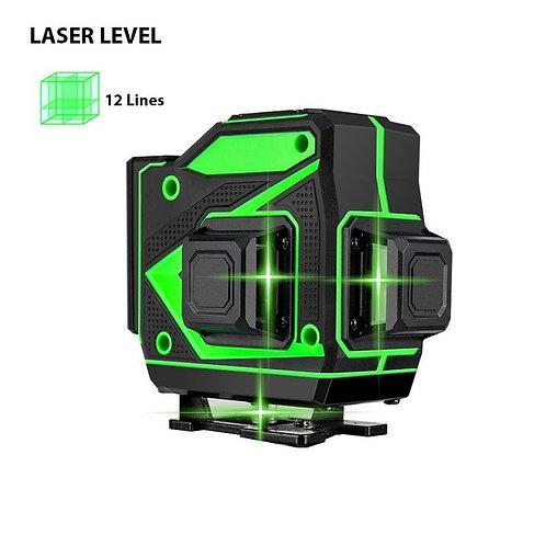 Self Leveling Laser,12 Lines, 3D Green Laser, 360 Degree