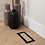 "Thumbnail: Aria Flushmount Custom Vent Air 4"" X 10"" Matte Black"