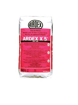 Ardex X5 Flexible Tile/stone Mortar Gray 40lb